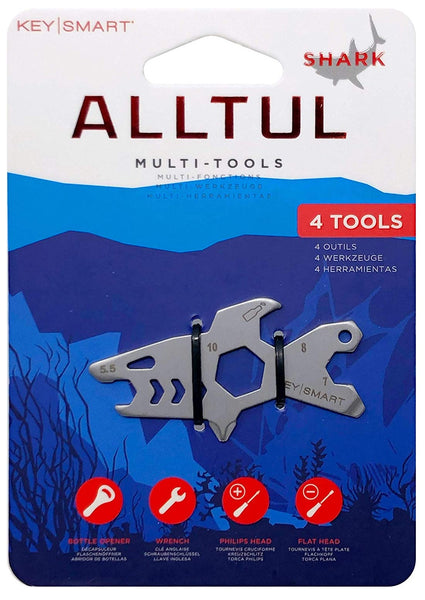 KeySmart KS824-SS-SHK Alltul Shark Multitool Key, Stainless steel