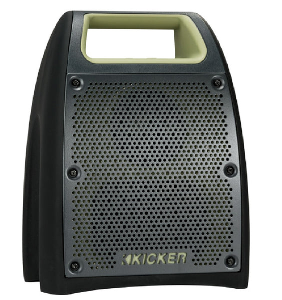 Kicker 44BF200G Bullfrog 400 Bluetooth/FM Outdoor Music System, Green