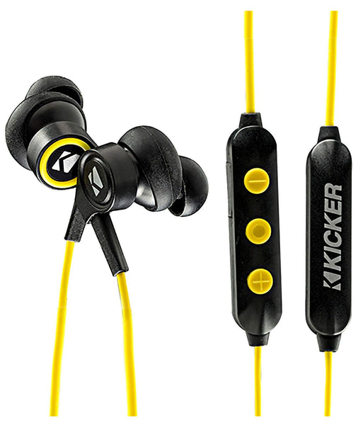 Kicker 46EB200BTB Bluetooth Sports Earbuds, Black