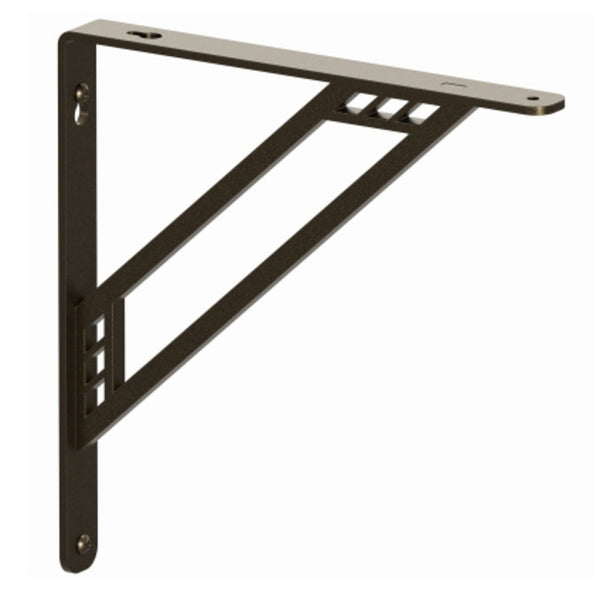 Knape & Vogt RP-201RC-8BRZ Richland Style Premium Decorative Shelf Brackets, 8 Inch