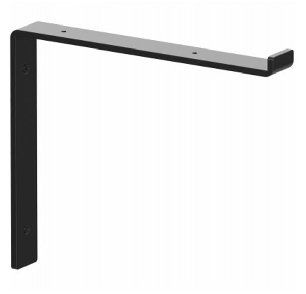 Knape & Vogt RP-201SL-12BK Premium Black Decorative Shelf Bracket, 12 Inch