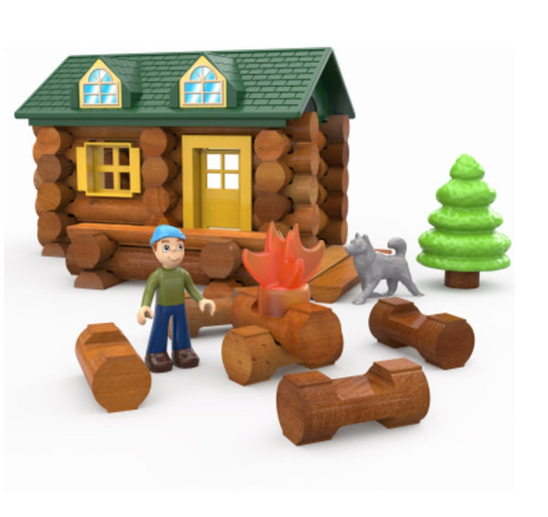 Knex 00821 Lincoln Logs On The Trail Building Set