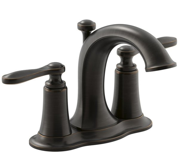 Kohler R45780-4D1-2BZ Linwood Two Handle Lavatory Faucet, Oil Rubbed Bronze