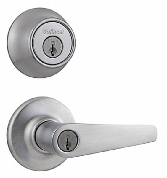 Kwikset 690DL 26D CP CODE K6 Entry Lever & Deadbolt Combo Pack, Satin Chrome
