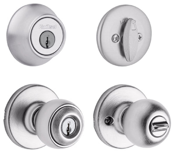 Kwikset 690P 26D CP CODE K6 Polo Combo Pack Lockset, Satin Chrome
