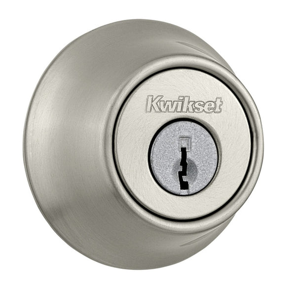 Clear Pack 258 RDT 15 SMT CP K4 Kwikset Uptown Low Profile Round Contemporary Deadbolt Featuring Smartkey In Satin Nickel