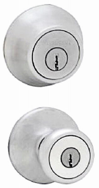Kwikset 690T 26D RCAL RCS Single Cylinder Deadbolt Entry Lockset, Satin Chrome