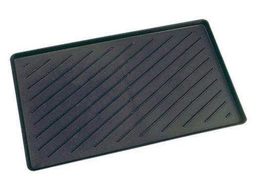 "Lanart Rug OLK1424 Rectangular Boot Tray, 14"" x 24"", Black"