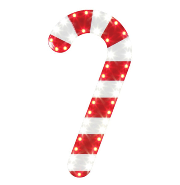 Ledup Manufacturing HICC1643RPW-WB-1 Christmas Holiday Candy Cane Icons, 16 Inch