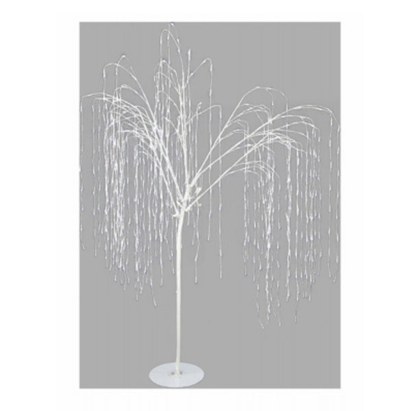 Ledup Manufacturing 9421002W-18T Illuminated Twinkling Willow Christmas Tree, White