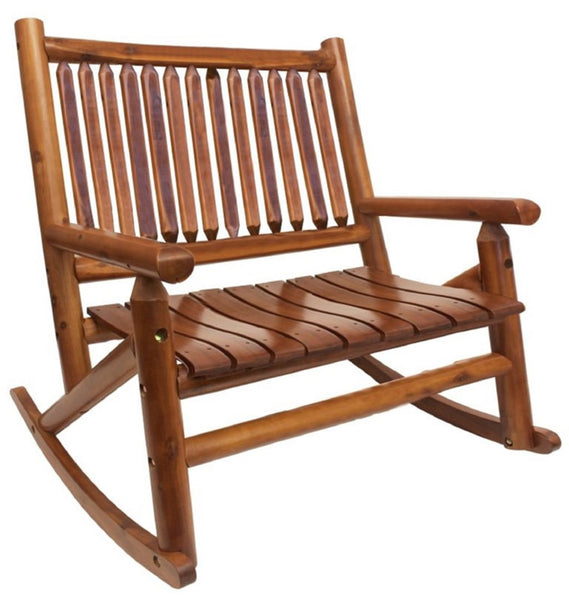 Leigh Country TX36005 Porch Double Rocker, Wood