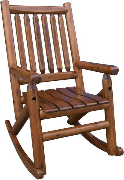 Leigh Country TX36000 Porch Single Wood Rocker Chair, Wood
