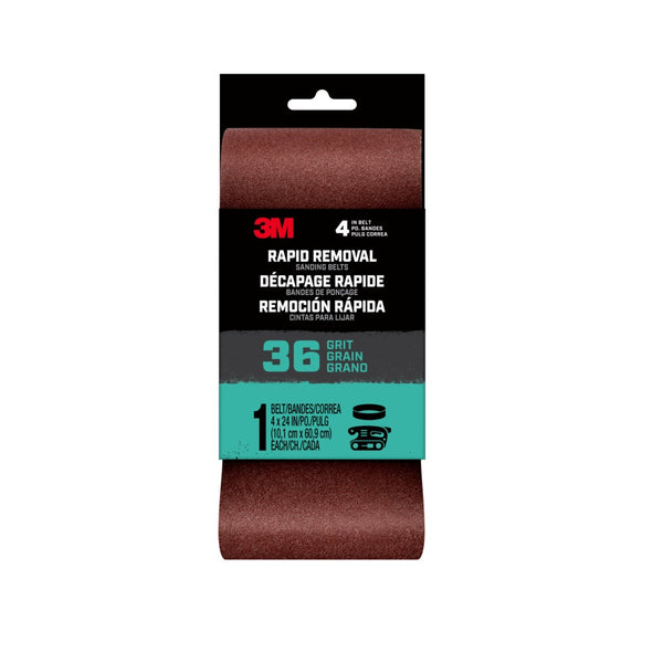 3M 27382 Rapid Removal Sanding Belt, 36 Grit