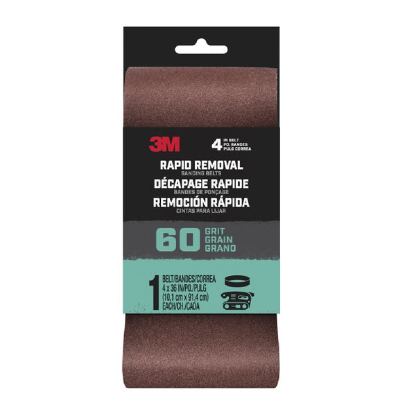 3M 27384 Rapid Removal Sanding Belt, 60 Grit