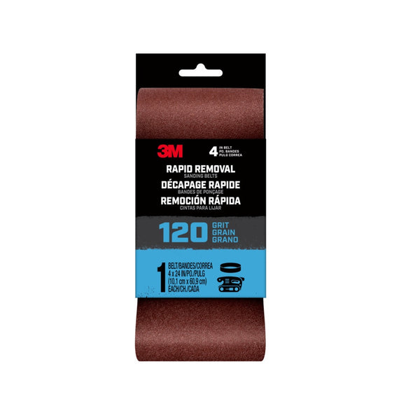 3M 27390 Rapid Removal Sanding Belt, 120 Grit
