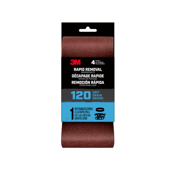 3M 27403 Rapid Removal Sanding Belt, 120 Grit