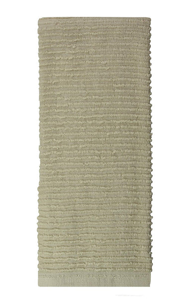 MUkitchen 6615-1721 Ridged Towel, Oatmeal