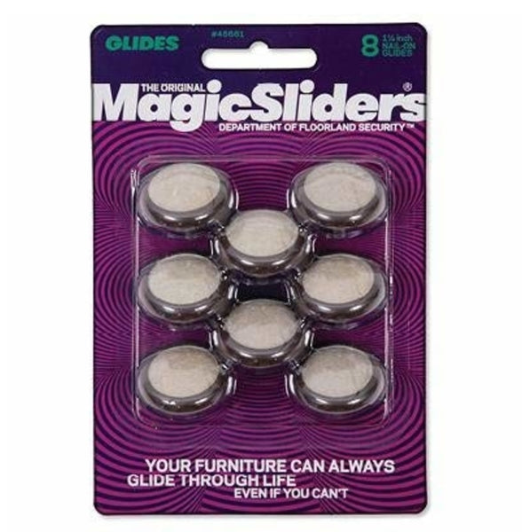 Magic Sliders 45661 Chair Carpet Glides, 1-1/4 inch