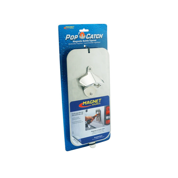 Master Magnetics 07681 Pop 'N Catch Magnetic Bottle Opener, Silver