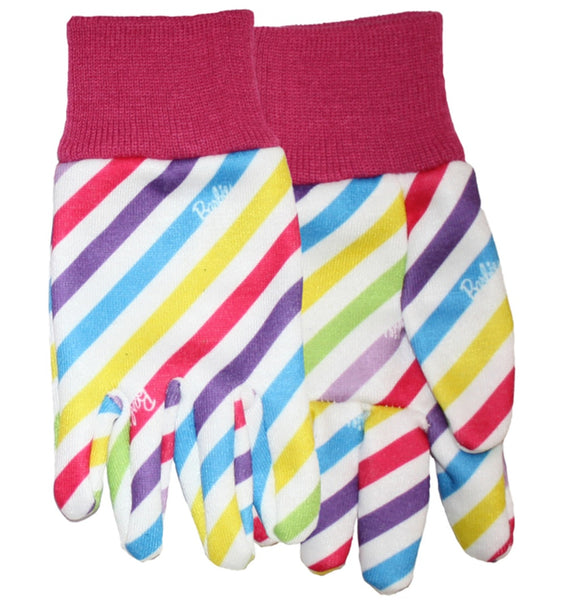 Midwest Quality Gloves BA102T Mattel Barbie Jersey Garden Gloves, Toddler