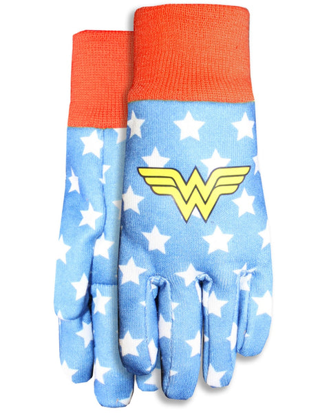 Midwest Quality Gloves DCW102TH8 Warner Brothers Wonder Woman Garden Glove, Jersey