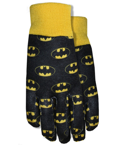 Midwest Quality Gloves SFB102TH8 Batman Jersey Garden Gloves, Toddler