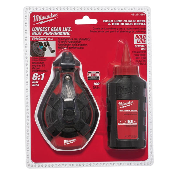 Milwaukee 48-22-3986 Bold Chalk Reel Set, 100 Feet