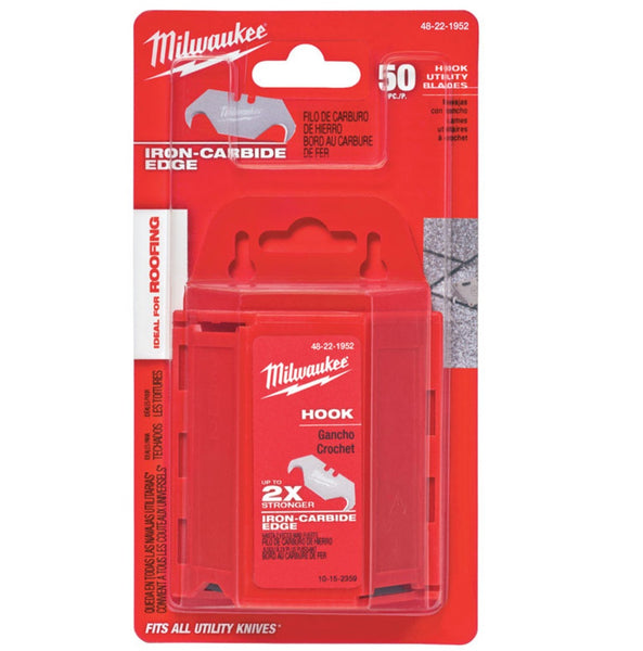 Milwaukee 48-22-1952 Hook Knife Blades With Dispenser, Silver
