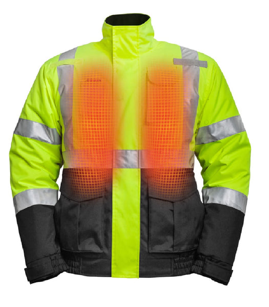 Mobile Warming MWJ19M04-10-05 Hi-Viz Heated Jacket, X-Large