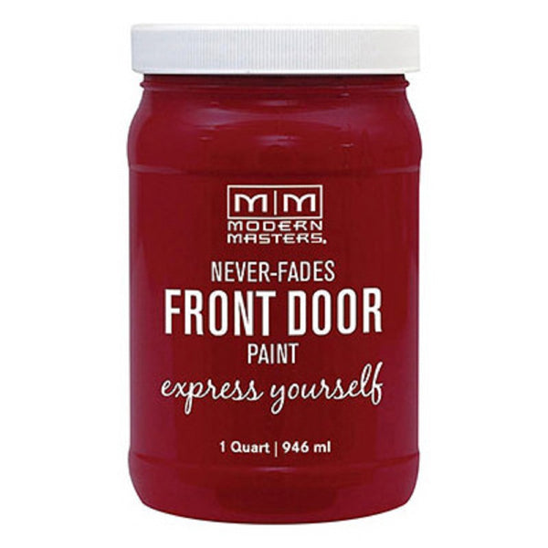 Modern Masters 275268 Front Door Paint, Passionate, Satin, 1 Quart