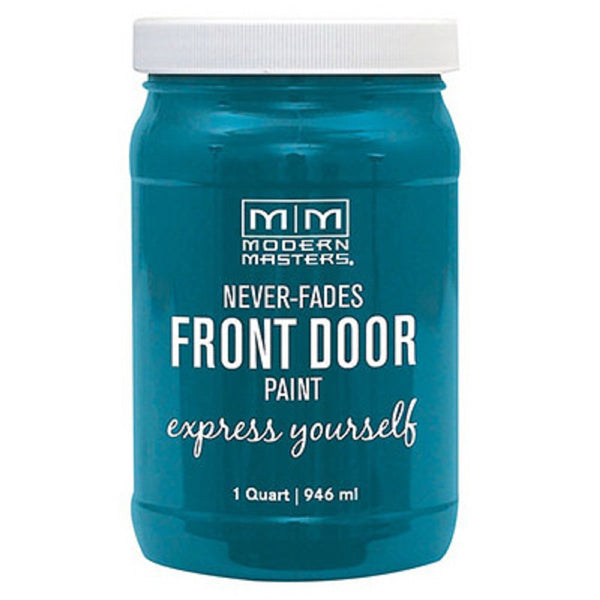 Modern Masters 296681 Front Door Paint, Tranquil, Satin, 1 Quart