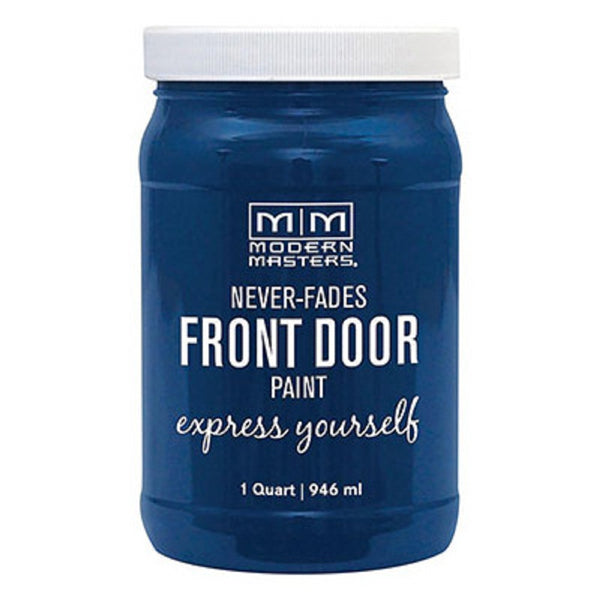 Modern Masters 275270 Interior/Exterior Water-Based Front Door Paint, Calm, 1 Quart