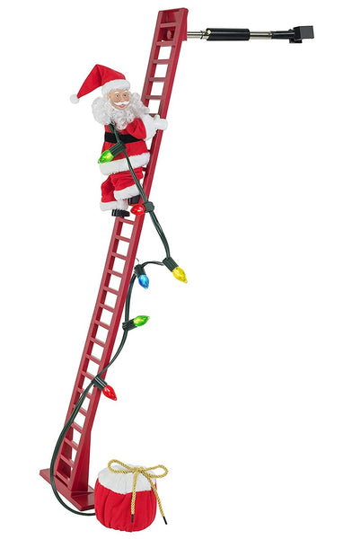 Mr. Christmas 36883 Christmas Super Climbing Santa Holiday Decor, Red