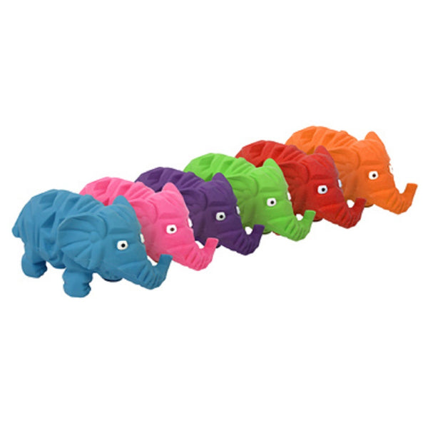 Multipet 61274 Origami Latex Elephants Dog Toy, 8 Inch