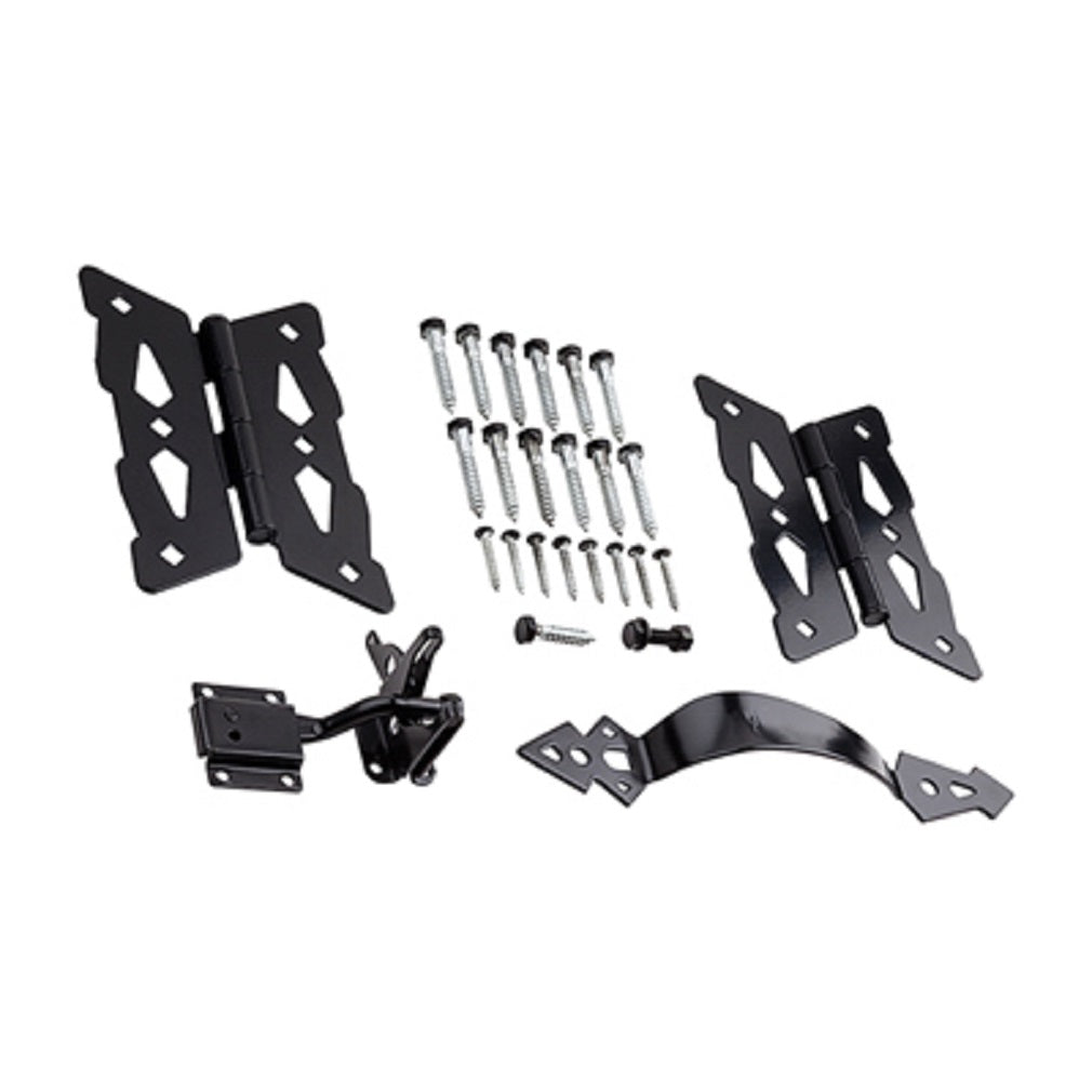 National Hardware N109-300 Decorative Butterfly Gate Kit, Black