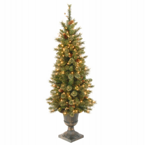National Tree GLB1-306-40 Golden Bristle Entrance Artificial Christmas Tree, 4 Feet
