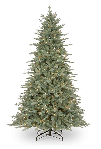 National Tree PEBC2-307-75 Christmas Buckingham Blue Spruce Hinged Artificial Tree, 7.5 feet