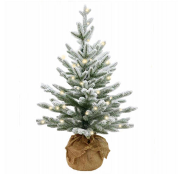National Tree PECAF1-306-25-B Christmas Snowy Cambridge Fir Artificial Tree