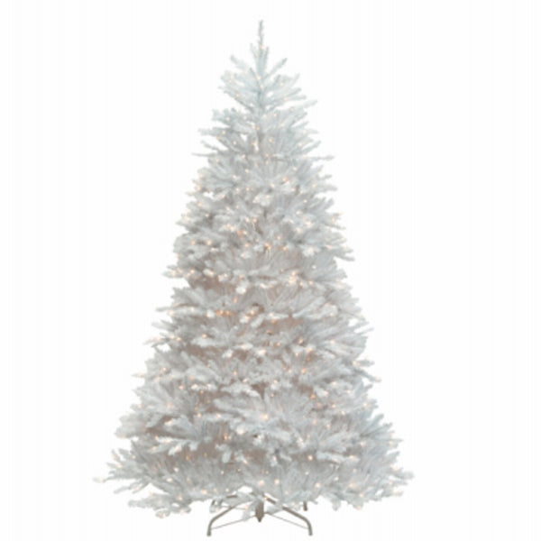 National Tree TDUWH-70LO Dunhill Fir Hinged Artificial Christmas Tree, 7 Feet