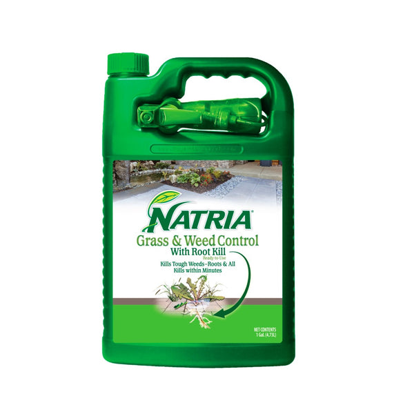 Natria 707201A RTU Liquid Grass & Weed Killer, 1 Gallon