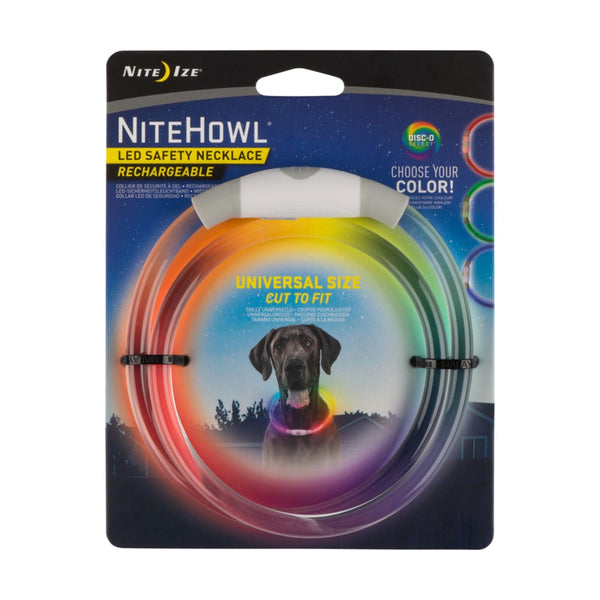 Nite Ize NHOR-07S-R3 NiteHowl LED Safety Dog Collar Necklace