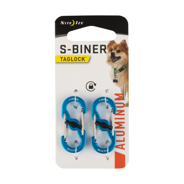 Nite Ize PLSBMA-03-2R6 TagLock S-Biner, Assorted Colors