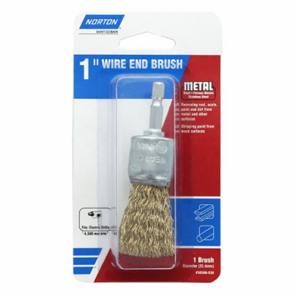 Norton 50588-038 Coarse Wire End Brush, 1 Inch