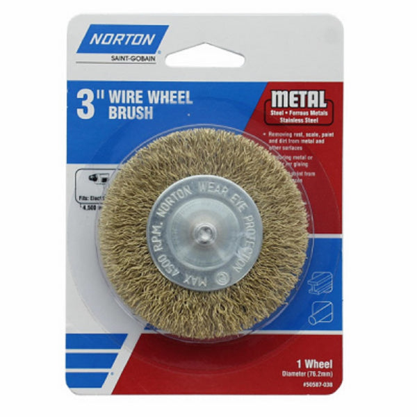 Norton 50587-038 Coarse Wire Wheel, 3 Inch