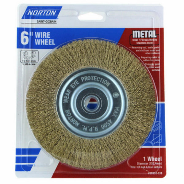 Norton 50592-038 Coarse Wire Wheel, 6 Inch
