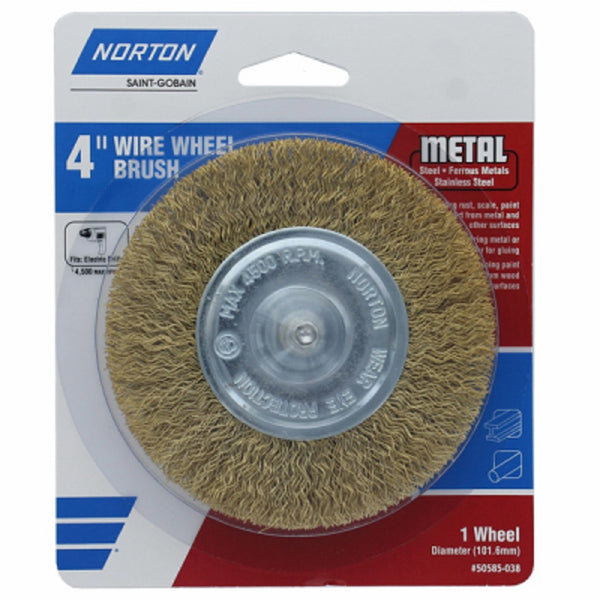 Norton 50585-038 Coarse Wire Wheel, 4 Inch