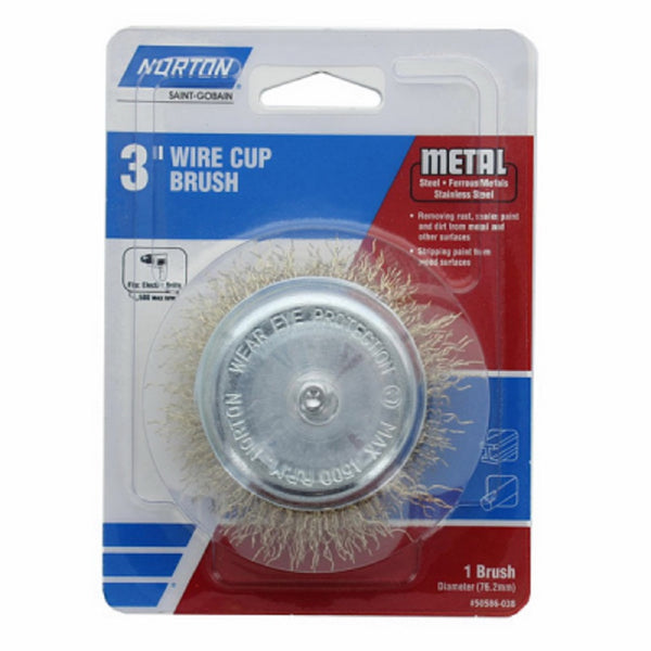 Norton 50586-038 3 Crimp Wire Cup