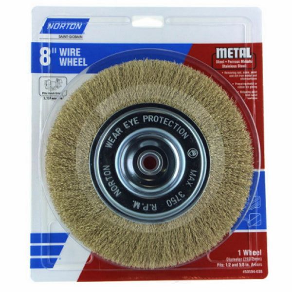Norton 50594-038 Wire Brush, 8 Inch