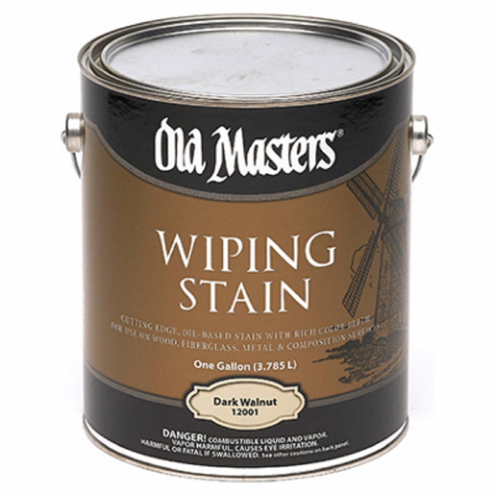 Old Masters 12001 Dark Walnut Wiping Stain, Oil Based, 1 Gallon