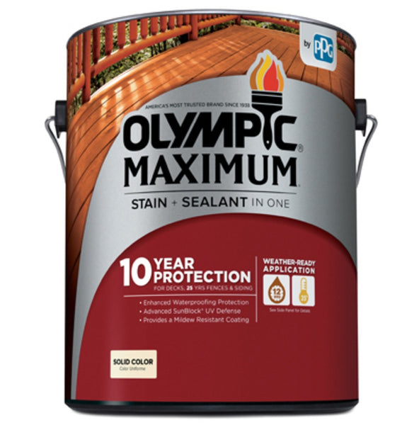 Olympic 79602A/01 Maximum Tintable Latex Stain & Sealant, 1 Gallon